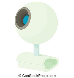 Webcam icon in cartoon style