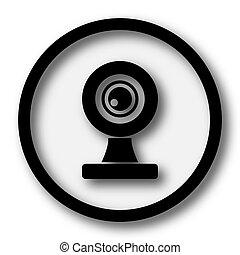 Webcam icon. Internet button on white background.