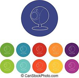Webcam icon, isometric 3d style