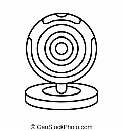 Webcam icon, outline style