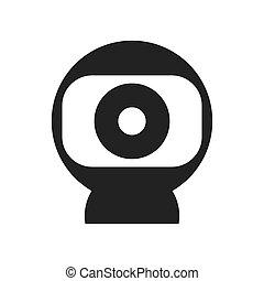 webcam, icon., technologie, und, zubehörteil, design.,...