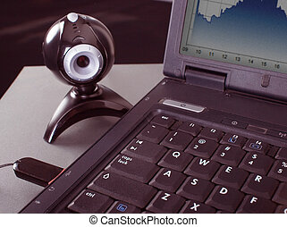 webcam, laptop
