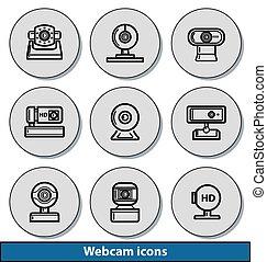 Webcam light icons