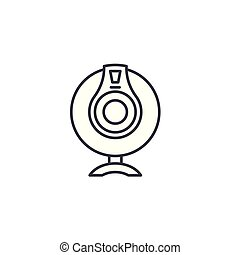 Webcam linear icon concept. Webcam line vector sign, symbol, illustration.