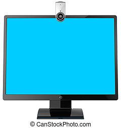 webcam, monitor de la computadora