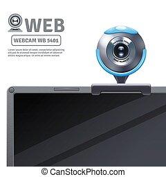 Webcam On Computer Illustration