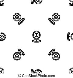 Webcam pattern seamless black