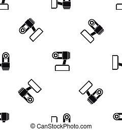 Webcam pattern seamless black