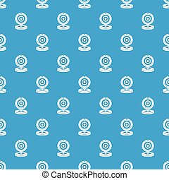 Webcam pattern seamless blue