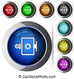 Webcam settings round glossy buttons