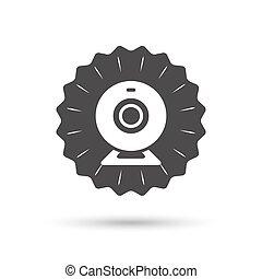 Webcam sign icon. Web video chat symbol.