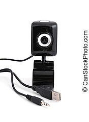 webcam stand on a white background