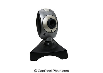Webcam - The webcam without a wire on a white background