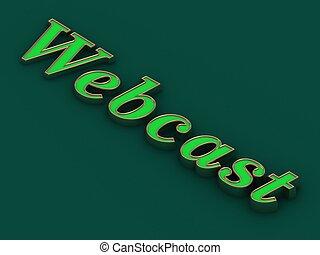 Webcast - inscription of golden letters