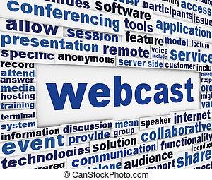 webcast, poszter, tervezés
