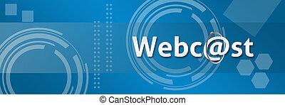 webcast, profissional, estilo, backg