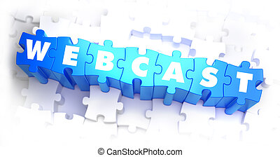 Webcast - White Word on Blue Puzzles.