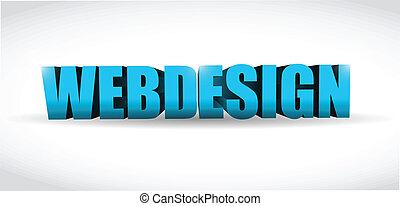 webdesign, 3d, conception, illustration, texte