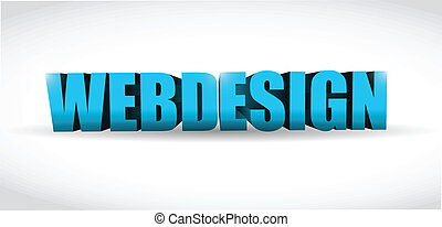 webdesign 3d text illustration design