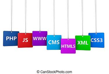 webdesign, concepto, internet