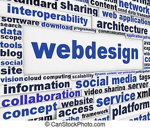 webdesign, mensagem, fundo