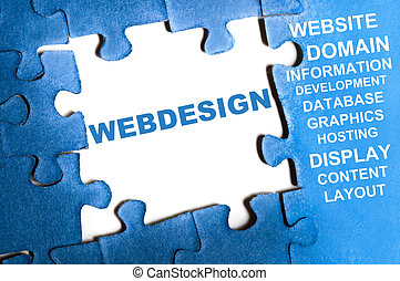webdesign, puzzel