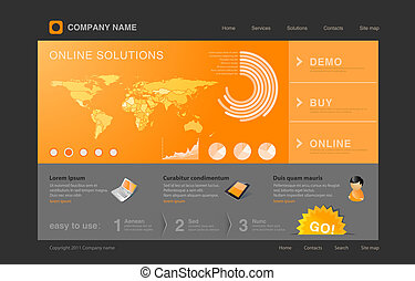 Webdesign - Website template with infographics