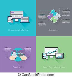 webentwicklung, minimal, wohnung, busine