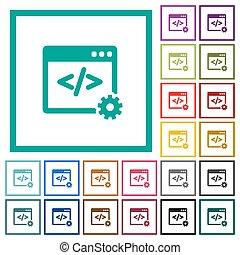 webentwicklung, wohnung, farbe, heiligenbilder, mit, quadrant, rahmen