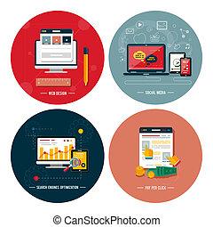 webikon, medien, sozial, seo, design