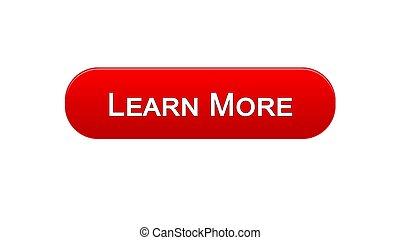 webinar, もっと, オンラインで, インターフェイス, ボタン, 学びなさい, プログラム, 網, 赤, 色, 教育