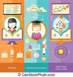 webinar, afstand, verbeteren, vaardigheden, opleiding