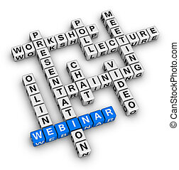 webinar, estrutura, crossword