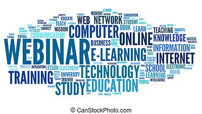 Webinar in word tag cloud