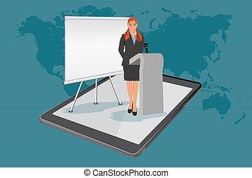 webinar, online presentation