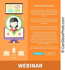 Webinare, Distance Education and Learning Concept
