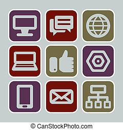 web/internet, iconen