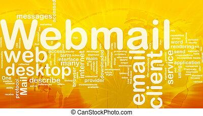 Webmail background concept - Background concept wordcloud...