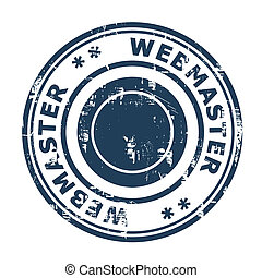 Webmaster SEO concept stamp