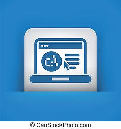 webpage, software, lingua, icona