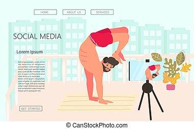 Webpage template of Vlogging