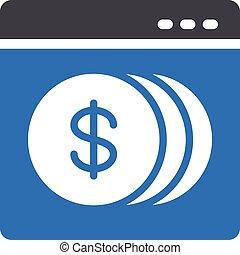 webpage vector glyph color icon