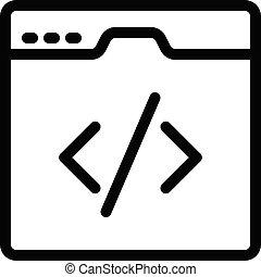 webpage vector thin line icon
