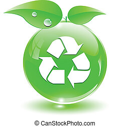 webrecycle, vert, icône