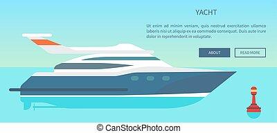websajt, information, nymodig, yacht, accelerera högt