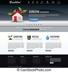 websajt, nät formge, mall, element