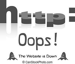 websajt, nedåt
