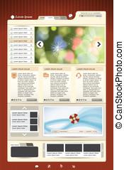 webseite, schablone