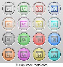 Webshop plastic sunk buttons