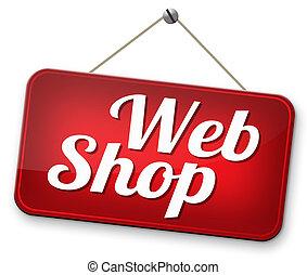 webshop road sign buy or sell at internet web shop online...